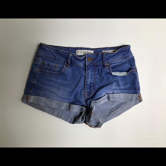 Bullhead Pants - Bullhead Denim Co. Low Rise Denim Shorts